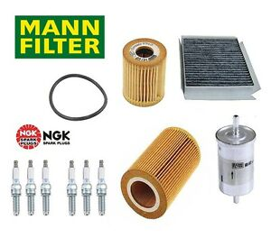 For Smart ForTwo Gas M160 05-07 Spark Plug Air Cabin Fuel Oil Filter Tune Up KIT