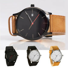 1PC Men's Wristwatches Stainless Steel Leather Band Quartz Analog Wrist Watch