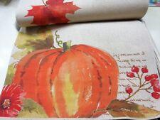 "NEWBRIDGE Hempstead Hill Autumn Harvest  Pumpkin Table Runner 14"" x 72"" - NWT"