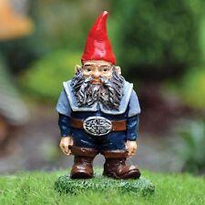 Fiddlehead Fairy Village Miniature Gnome with Bonus Fairy Decal