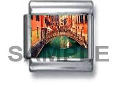 VENICE CANAL BRIDGE ITALY 9MM ITALIAN CHARM LINK travel vacation holiday