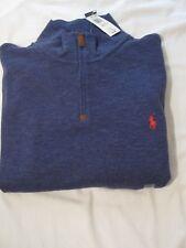 Polo Ralph Lauren Mens 1/2 Zip Long Sleeve Mock Turtleneck Sweater NWT XXL Blue