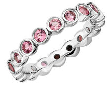 Розовый турмалин кольцо 1.00 кар (Ctw) стерлинговое серебро