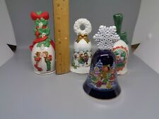 New ListingSet 4 Vintage Porcelain Bells by Avon Christmas Holiday 1986, 87, 89, 90