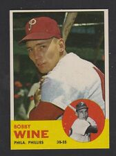 1963  TOPPS  BASEBALL # 71  BOBBY  WINE  NM-MT  CONDITION  INV 8377
