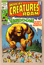 WHERE CREATURES ROAM #4 VG Jack Kirby, Steve Ditko, VANDOOM! 1971 Marvel Comics