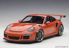 1:18 Autoart 78168 Porsche 911 (991) GT3 Rs (Lava Arancione/Grigio Scuro Cerchi)