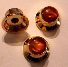 TMG Custom Potiknopf Strat Knopf gold und braun MOP