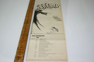 "GENESIS ""Foxtrot"" New LP and UK TOUR 1973 Original MM ADVERT/POSTER Progtastic"