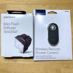 Insignia Canon Camera Accessory Bundle Mini Flash Diffuser And Wireless Shutter