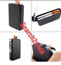 Double Ejection Cigarette Lighter Case Box Holder Windproof Dispen New ManUnited