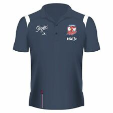 Sydney Roosters 2019 Polo Shirt Sizes Small & Medium Steel/White NRL ISC