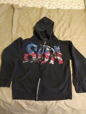 SONS OF ANARCHY~ American Flag - Zip Jacket/Hoodie - Black - Size Small
