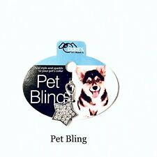 US Bling Dog Necklace Pendant For Pet Rhinestone Accessory