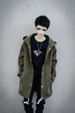 Green Long Coat Outfit  For Men BJD 70cm SD17 Uncle AOD AS Luts dollfie