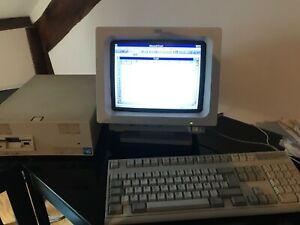 IBM PS/1 (1992) COMPLET et FONCTIONNEL avec ECRAN COULEUR, LOGICIELS (RARE)