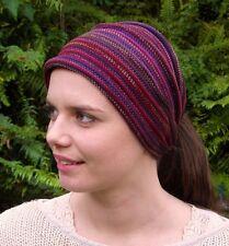 Rustic Earth Tribal Knit Headwrap Dreadband Head wraps hair Cotton Dreads