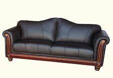 Kolonialstil Ledersofa Ledermöbel Leder-Sofa-3 Sitzer Garnitur Couch 278-3-3023