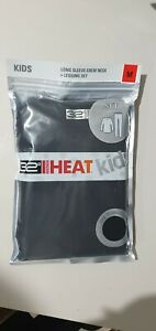 32 Degrees Heat Kids Long Sleeve Crew Neck + Legging Set Black 2pc