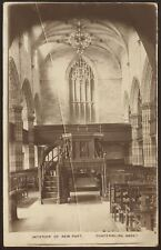 Fife - Dunfermline Abbey - Interior of New Part - Vintage Printed Postcard