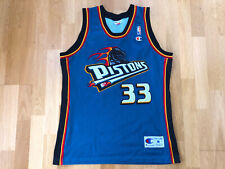 Vintage Champion MEDIUM M Grant Hill Detroit Pistons NBA shirt Jersey B76