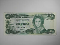 1974 Central Bank of the Bahamas 1 One Dollar Note, World Currency Note!