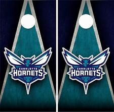 Charlotte Hornets Cornhole Wrap Skin Board NBA Sports Vinyl Decal GC53