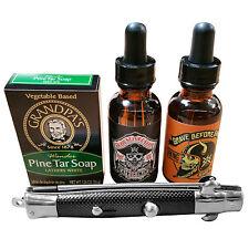 GRAVE BEFORE SHAVE Beard Pack (Bay rum oil, Viking oil, 1.25 oz. soap, SB comb)