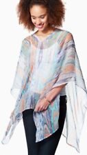 Sheer Ikat Poncho Multi-Color One Size