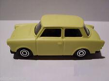 Trabant 601,Trotteur, jaune, Maisto Auto Modèle 1:64, Neuf,EMBALLAGE D'ORIGINE