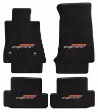 NEW! BLACK FLOOR MATS 2016-2018 Camaro Embroidered 50TH Fifty Anniversary Logo A