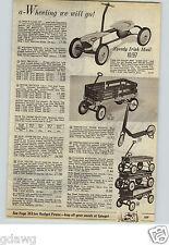 1961 PAPER AD Wagon Coaster Stake Irish Mail Sled Bobster Steering Wheel Radio