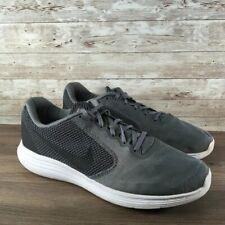 Nike Revolution 3 Mens Size 12 Running Shoe Cool Gray Black White (819300-002)