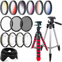 58mm Color & Macro Filter + UV CPL ND + Tripod  Canon EOS Rebel T6i T6 T5i T5 T4