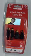 Belkin 3 in 1 FireWire Cable Kit 3m, 6 & 4 pin adapters