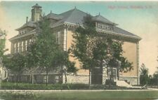 C-1910 High School Webster South Dakota Simon hand colored postcard 101