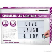 A4 Cinematic Light Up Letter Emojis Box Led Sign Wedding Party