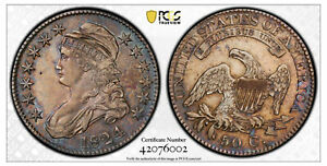 Rare 1824 Capped Bust Half Dollar PCGS  XF Details