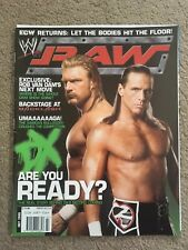 WWE RAW Magazine DX Return Triple H Shaun Michaels July 2006 with poster/pullout