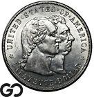 1900 Lafayette Commemorative Silver Dollar Lustrous White Choice BU Key Date!