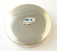 Caravan Pewter Trinket Jewellery Pill Box Ladies Travellers Gift