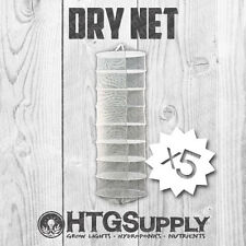 5 Pack 8 Tier Dry Net Collapsible Herb Herbal Plant Drying Rack Grow Hydroponic