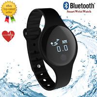 Bluetooth Smart Watch Heart Rate Monitor Fitness Tracker Waterproof Wrisband
