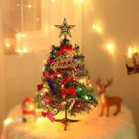 1-2FT Mini Christmas Tree With Light Festival Party Decoration Home Ornament