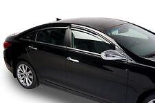 Tinted Window Visors Fits 2011-2014 Hyundai Sonata (Set of 4) Tape On