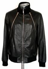 Givenchy Noir Vachette Veste en cuir avec fermeture éclair détail Large RRP £ 1800