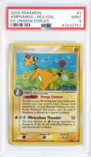 Pokemon EX Unseen Forces # 1 Ampharos Reverse Holo PSA 9 Card MINT
