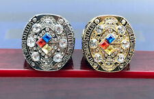 2Pcs Ring 2008 Pittsburgh Steelers Championship Rings Fans Gift !!