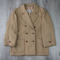 Womens Vintage Aquascutum Double Breasted Trench Mac Duffle Coat Jacket 14