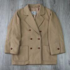 Femme Vintage Aquascutum Double Boutonnage Fashion Mac Duffle Coat Veste 14